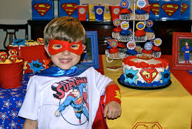 Superman Birthday Party Decoration Ideas A Party Studio Printable Party Supplies Ideas And Creativity
