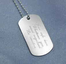 engravable dog tags engraved sterling silver dog tags with sterling silver chain