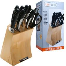 top chef piece full knife set stainless steel the top chef piece full knife set stainless steel the home depot
