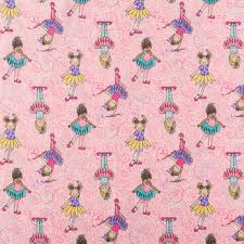 ballerina wrapping paper tippy toes ballerina cotton calico fabric hobby lobby 743450