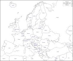 blank map of europe with names