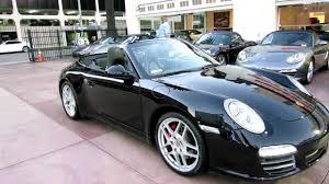 porsche coupe 2010 6 500 mile 2010 porsche 911 carrera 4s cabriolet triple black pdk