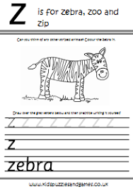 handwriting practice worksheet z kids puzzles and games