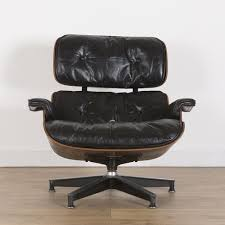 herman miller original vintage rosewood and black leather lounge