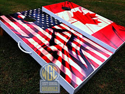 american and canadian flag boards west georgia