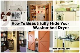 washer and dryer cover ups kitchen hide washer and dryer atticmag com jpg how to cover up in