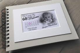 Photo Album Guest Book Personalised Luxury Scrapbook Photo Album Guestbook 60th Birthday