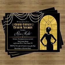 gatsby invitations great gatsby invitation gatsby bridal shower invitation