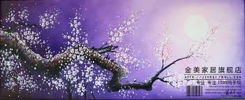 handmade oil painting mural purple flowers frameless paintings handmade oil painting mural purple flowers frameless paintings plum blossom chinese style wall painting samuume