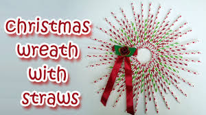 christmas wreath with straws christmas decorations ana diy
