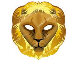 lion mask printable lion mask dimensions of