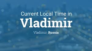 Russia Time Zone Map by Current Local Time In Vladimir Russia