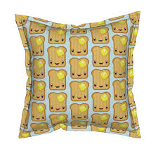 buttered kawaii toast wallpaper by melinda wolf designs roostery