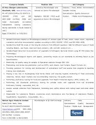 Microbiologist Sample Resume by Salim Qc Cv