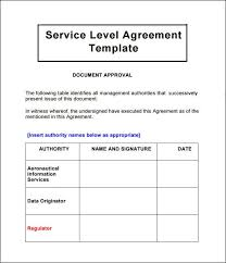 help desk service level agreement template agreement for