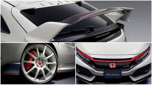 honda civic honda civic type r gets real real carbon wing accessory in japan