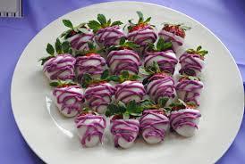 Chocolate Covered Strawberries Recipe Dishmaps Lavender U0026 Purple Bridal Shower White Almond Bark Almond Bark
