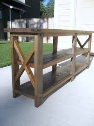 Rustic Sofa Table by Rustic Media Console Table Made From Reclaimed Barn Wood And