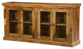 Rustic Buffet Tables by Twisted Hearts Grille Wood And Iron Buffet Sideboard Cabinet