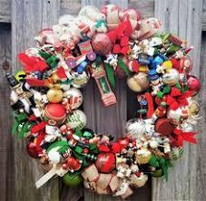 vintage nostalgic wood glass ornament 24 wreath