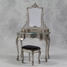 silver vanity table set antique silver french style dressing table mirror and stool set