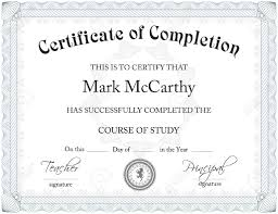 certificate free templates certificate of completion template free resume templates free