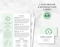 curriculum vitae template and matching business card bundle