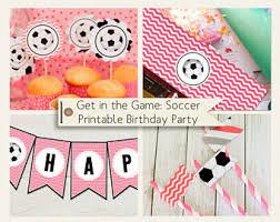 Birthday Decorations For Girls Girls Soccer Party Etsy