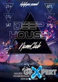 deep cover download free deep house party flyer psd template facebook cover download