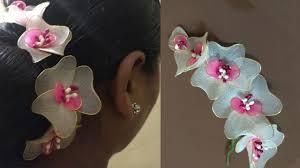 hair broach how to make hair brooch simple flowers