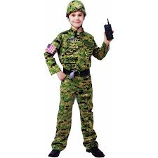 Lightweight Halloween Costumes Generic Army Infantry Child Halloween Costume Walmart