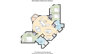 Double Master Bedroom Floor Plans Club Wyndham Wyndham Vacation Resorts At National Harbor