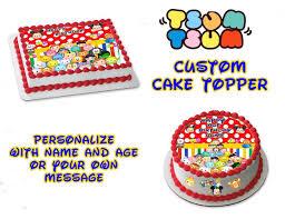custom edible images tsum tsum inspired custom edible image cake topper