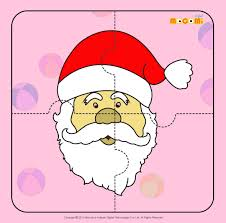 santa claus 2 jigzaw puzzles for kids mocomi