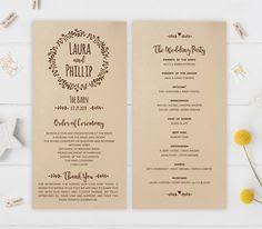 cheap wedding programs printed modern wedding programs printed on kraft cardstock calligraphy