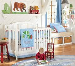 Hungry Caterpillar Nursery Decor The Hungry Caterpillar Baby Bedding Set Pottery Barn