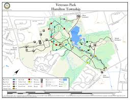 Map Of Middlesex County Nj Veterans Park New Jersey Trails Association