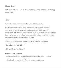 chef resume samples free u2013 topshoppingnetwork com