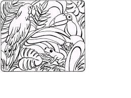jungle scene coloring pages printable jungle coloring pages