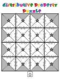 distributive property u0026 combining like terms puzzle tpt