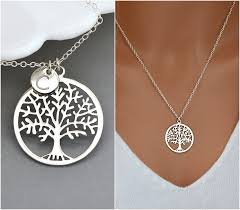 personalized family tree necklace family tree necklace tree of personalized tree necklace