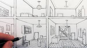 Draw Room | how to draw a room in one point perspective in a house youtube