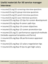 successful resume templates top 8 itil service manager resume samples