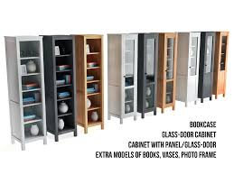 Glass Bookcases With Doors Furniture Home Furniture Home Ikea Hemnes Bookcase Glass Door