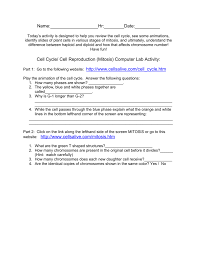 Asexual Reproduction Worksheets Cell Cycle And Mitosis Worksheet Answers With Uncategorized Cell