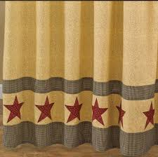 Outhouse Shower Curtain Hooks Country Star Shower Curtain Primitive Home Decors