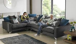 Living Rooms  Trendy Living Room With Brown Futuristic L Shaped - Living room sofa designs