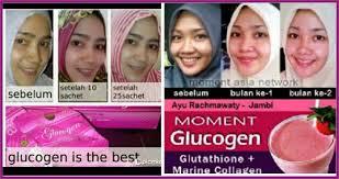 Resmi Collagen Asli glucogen solusi untuk kulit putih dan cerah moment glucogen asli
