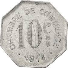 chambre du commerce rouen 85908 rouen chambre de commerce 10 centimes 1918 elie 10 2 ttb