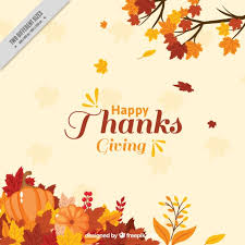 thanksgiving background with leaves decoration vector free